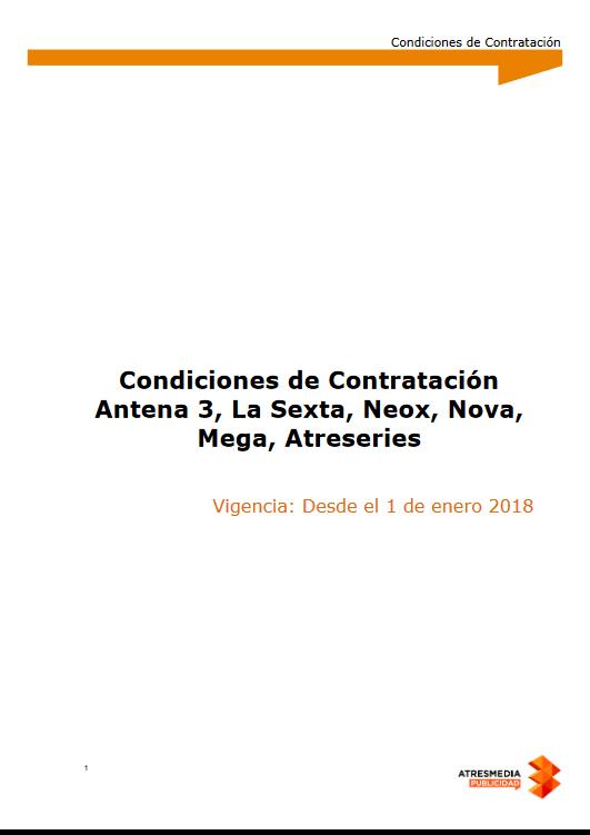 Condiciones de contratación 2018