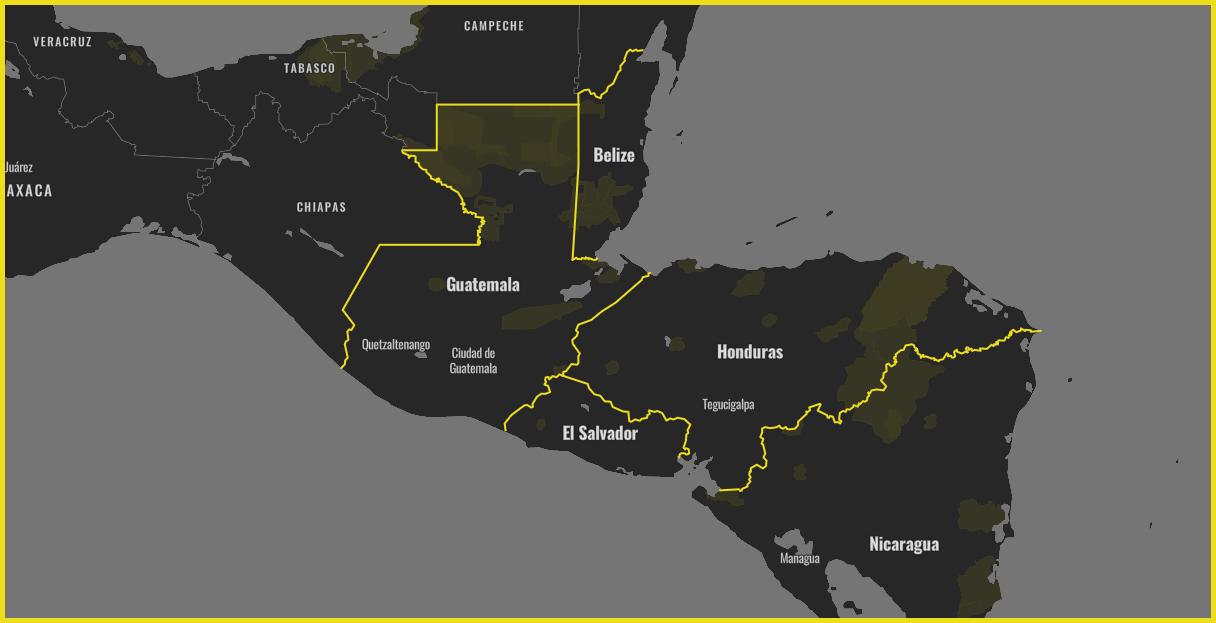 Mapa Triángulo Norte