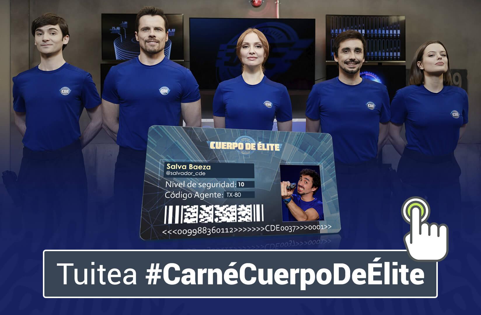 Comparte en Tuiter #CarnéCuerpodeÉlite