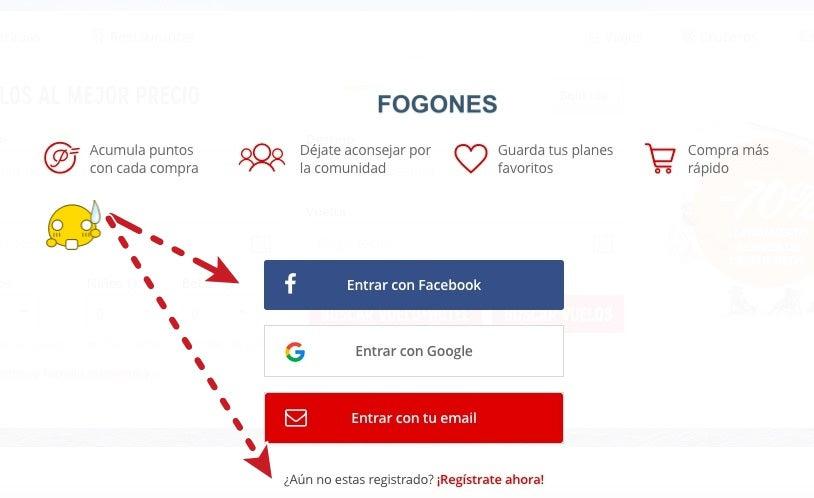 google facebook registrarse