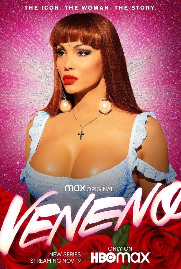 El póster que HBO Max ha preparado para el desembarco de 'Veneno' en EE.UU.